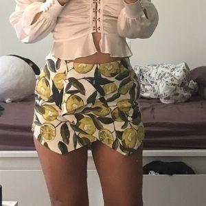 Topshop lemon skort